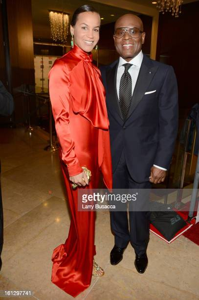 Epic Records Chairman/CEO Antonio 'LA' Reid and Erica Reid arrive at the 55th Annual GRAMMY Awards PreGRAMMY Gala and Salute to Industry Icons...