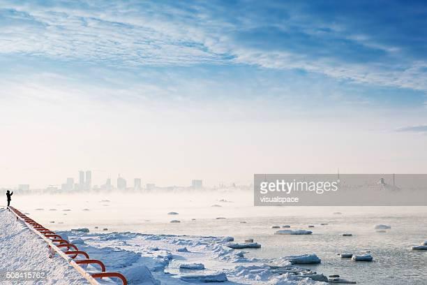 Epic Winterscape in Tallinn, Estonia