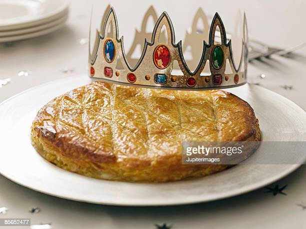 Epiphany King's Cake with crown