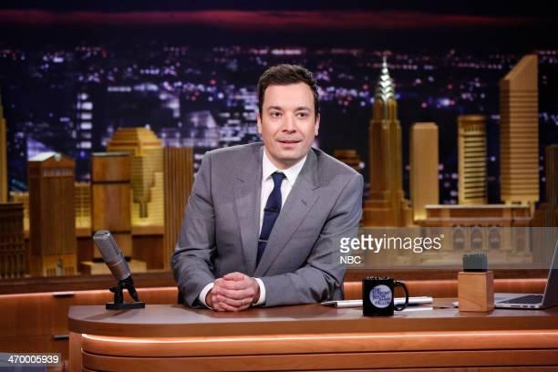 Host Jimmy Fallon on February 17 2014