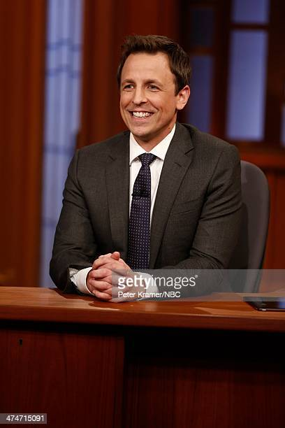 Host Seth Meyers on February 24 2014