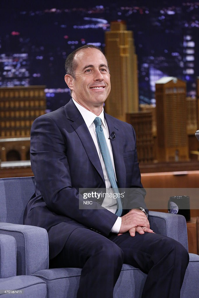 Comedian <a gi-track='captionPersonalityLinkClicked' href=/galleries/search?phrase=Jerry+Seinfeld&family=editorial&specificpeople=210541 ng-click='$event.stopPropagation()'>Jerry Seinfeld</a> on February 18, 2014 --