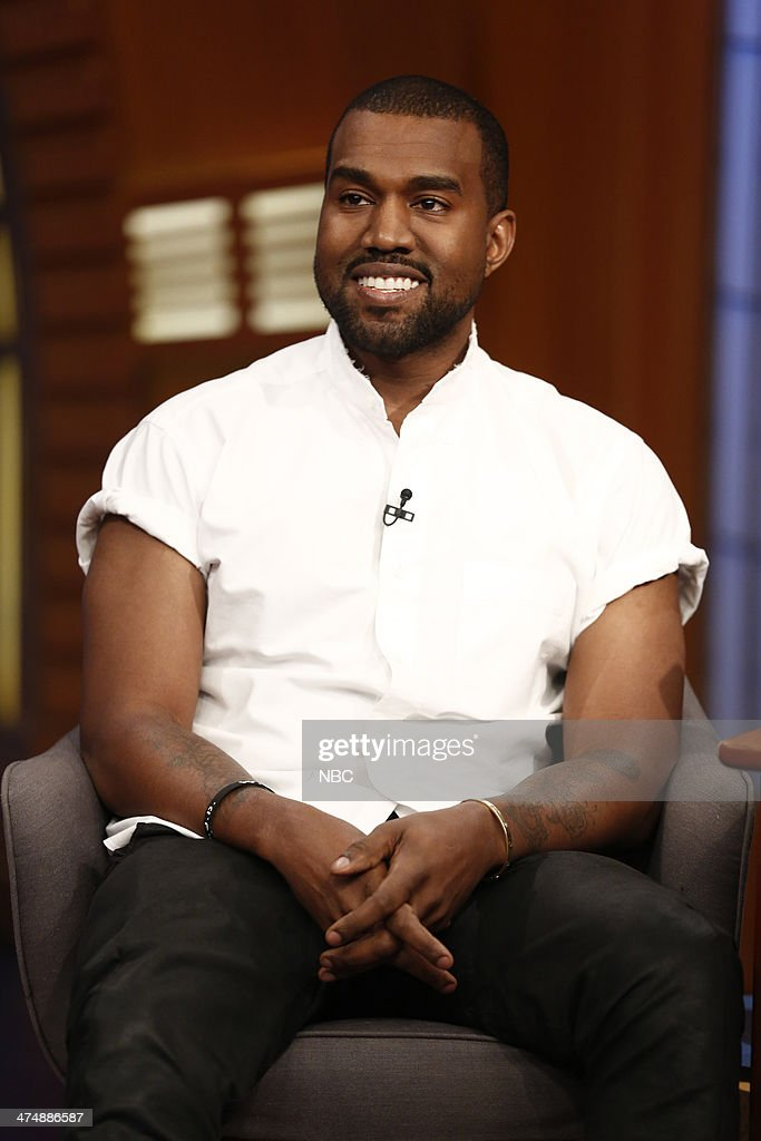 Hip hop artist <a gi-track='captionPersonalityLinkClicked' href=/galleries/search?phrase=Kanye+West+-+Musician&family=editorial&specificpeople=201803 ng-click='$event.stopPropagation()'>Kanye West</a> on February 25, 2014 --