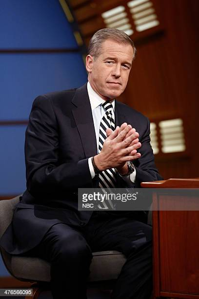 NBC Nightly News anchor Brian Williams during an interview with host Seth Meyers on March 3 2014