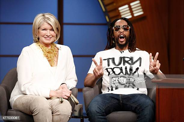 TV personality Martha Stewart and rapper Lil Jon on March 6 2014