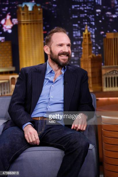 Actor Ralph Fiennes on February 28 2014