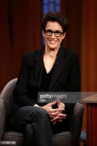 Television host Rachel Maddow on March 11 2014