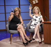 Talk show hosts Hoda Kotb and Kathie Lee Gifford on March 24 2014