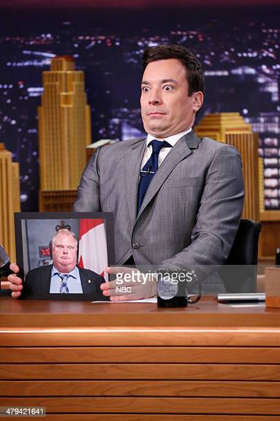 Jimmy Fallon does his best Rob Ford impersonation on March 18 2014