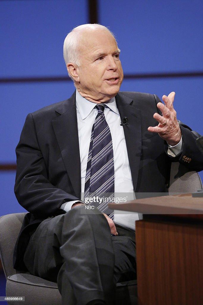 Senator John McCain during an interview on April 21 2014