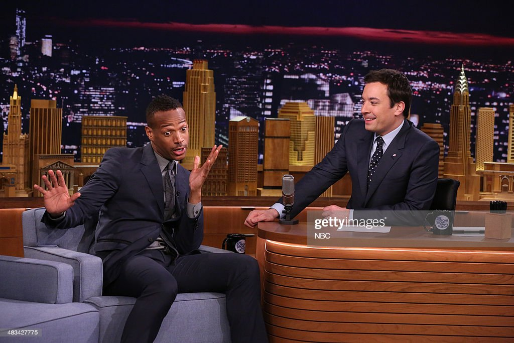 Actor <a gi-track='captionPersonalityLinkClicked' href=/galleries/search?phrase=Marlon+Wayans&family=editorial&specificpeople=203226 ng-click='$event.stopPropagation()'>Marlon Wayans</a> during an interview with host Jimmy Fallon on April 8, 2014 -- (Photo by: Nathaniel Chadwick/NBC/NBCU Photo Bank via Getty Images).