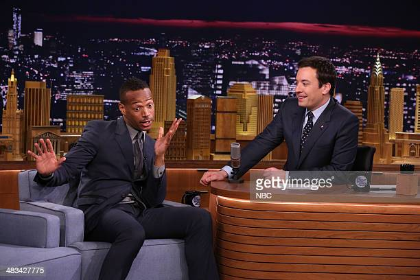 Actor Marlon Wayans during an interview with host Jimmy Fallon on April 8 2014