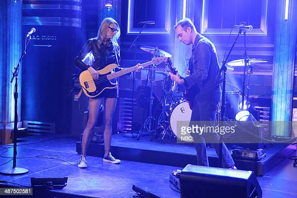 Aimee Mann and Ted Leo of musical guest The Both perform on April 30 2014