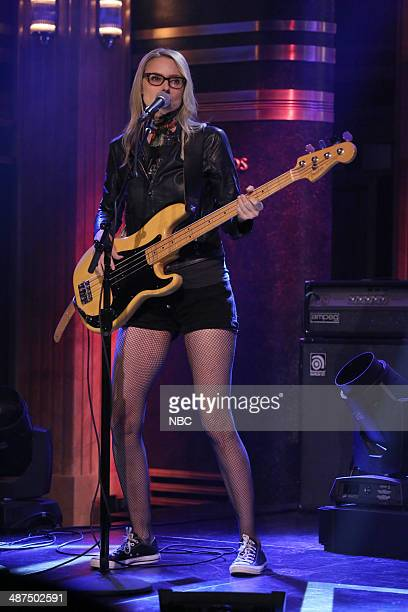 Aimee Mann of musical guest The Both performs on April 30 2014