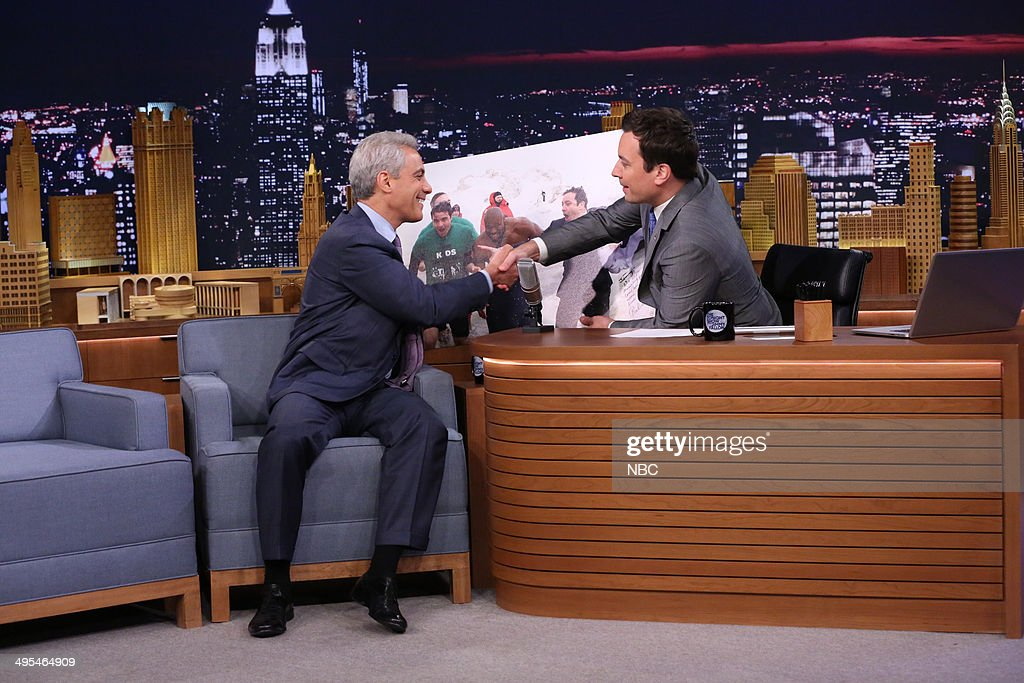 Chicago Mayor Rahm Emanuel during an interview with host Jimmy Fallon on June 3, 2014 --
