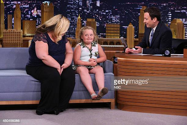 Television personalities Mama June and Honey Boo Boo during an interview with host Jimmy Fallon on June 11 2014