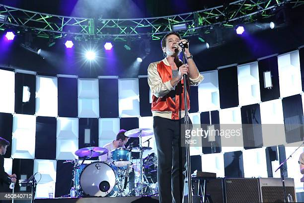 Nate Ruess of musical guest Fun performs on June 18 2014