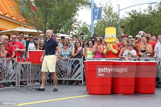 Musical artist Pitbull plays 'Giant Duff Beer Pong' on June 19 2014