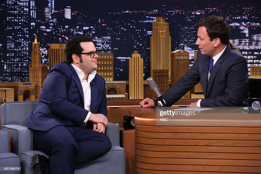 Actor Josh Gad during an interview with host Jimmy Fallon on July 15, 2014 --