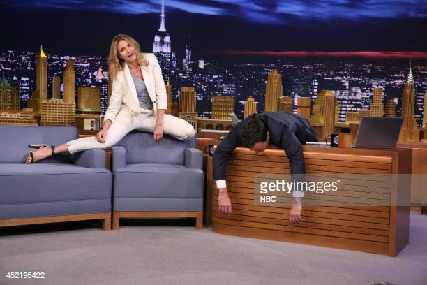 Actress Cameron Diaz during an interview with host Jimmy Fallon on July 15 2014