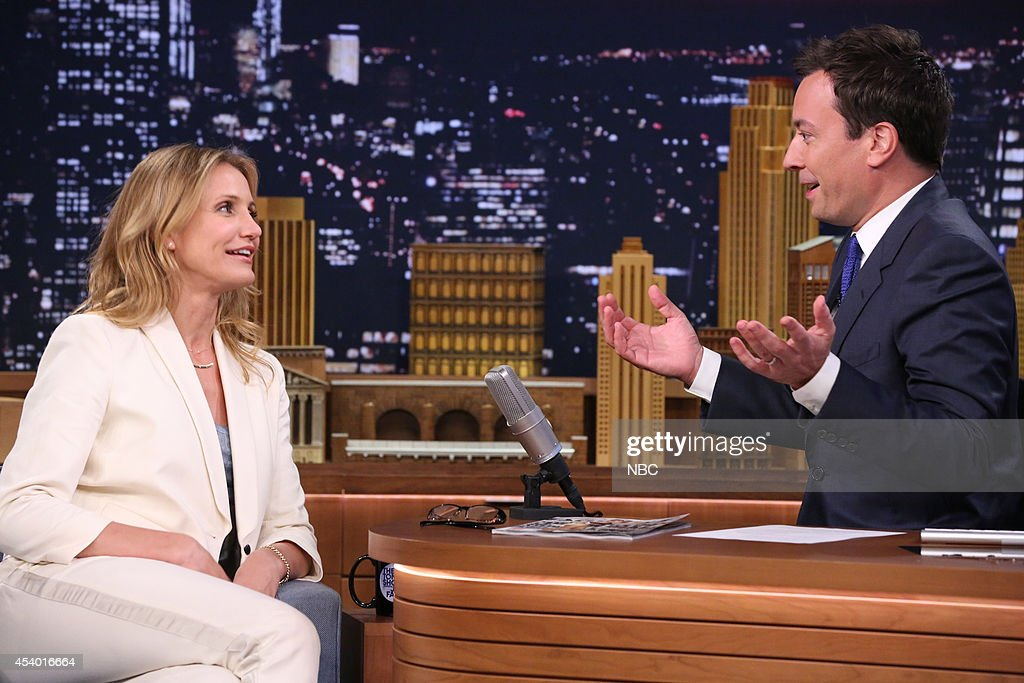 Actress Cameron Diaz during an interview with host Jimmy Fallon on July 15, 2014 --