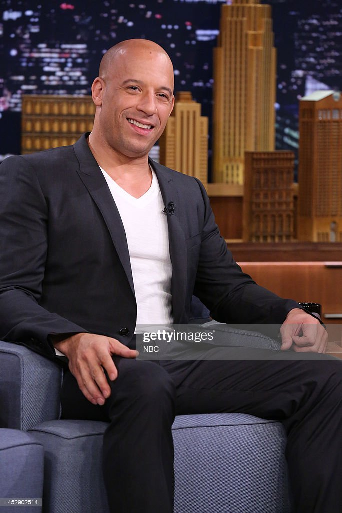 Actor <a gi-track='captionPersonalityLinkClicked' href=/galleries/search?phrase=Vin+Diesel&family=editorial&specificpeople=171983 ng-click='$event.stopPropagation()'>Vin Diesel</a> on July 29, 2014 --