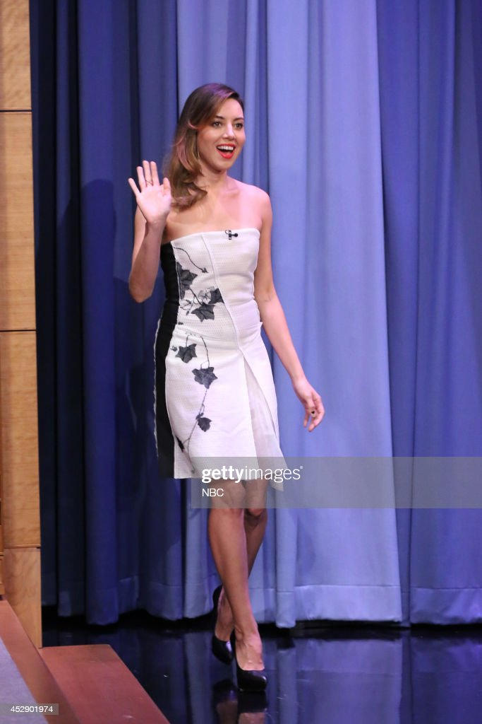Actress <a gi-track='captionPersonalityLinkClicked' href=/galleries/search?phrase=Aubrey+Plaza&family=editorial&specificpeople=5299268 ng-click='$event.stopPropagation()'>Aubrey Plaza</a> arrives on July 29, 2014 --