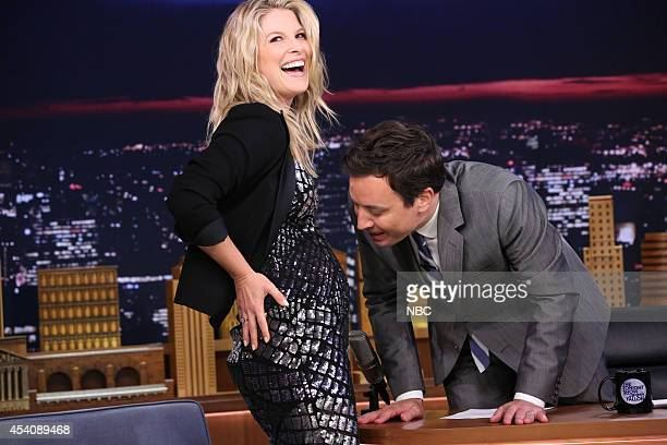 Actress Ali Larter during an interview with host Jimmy Fallon on August 8 2014