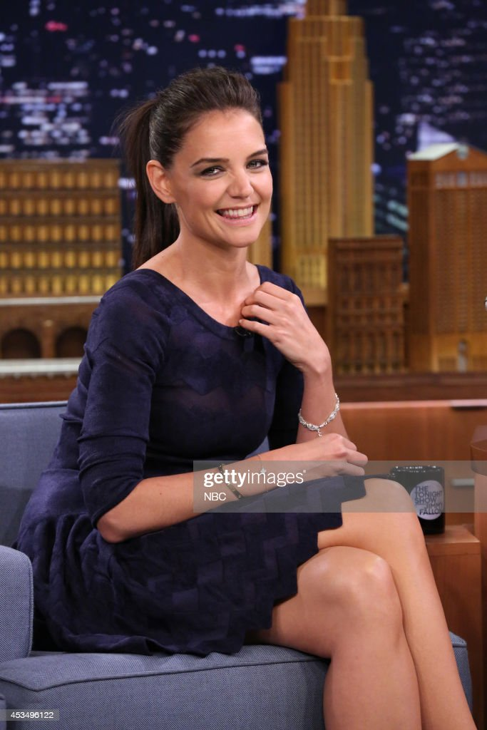Actress <a gi-track='captionPersonalityLinkClicked' href=/galleries/search?phrase=Katie+Holmes&family=editorial&specificpeople=201598 ng-click='$event.stopPropagation()'>Katie Holmes</a> on August 11, 2014 --