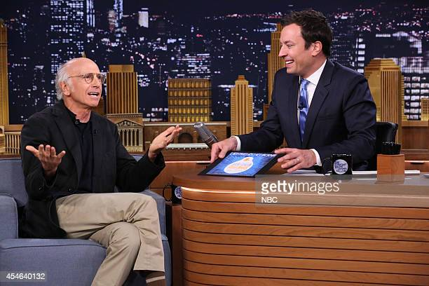 Actor Larry David during an interview with host Jimmy Fallon on September 4 2014