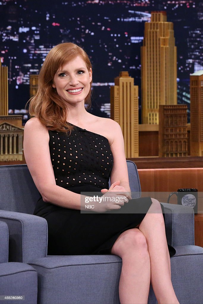 Actress <a gi-track='captionPersonalityLinkClicked' href=/galleries/search?phrase=Jessica+Chastain&family=editorial&specificpeople=653192 ng-click='$event.stopPropagation()'>Jessica Chastain</a> on September 11, 2014 --