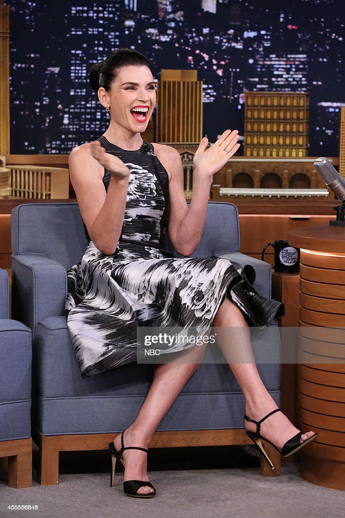 Actress <a gi-track='captionPersonalityLinkClicked' href=/galleries/search?phrase=Julianna+Margulies&family=editorial&specificpeople=208994 ng-click='$event.stopPropagation()'>Julianna Margulies</a> on September 16, 2014 --