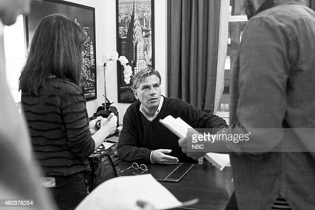 MEYERS Episode 0127 Pictured Aaron Sorkin during the 'Aaron Sorkin Bit' skit on November 12 2014