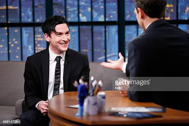 Actor Robin Lord Taylor during an interview with host Seth Meyers on November 17 2014