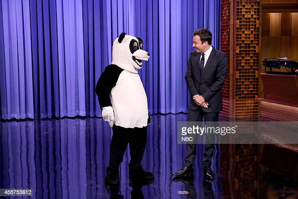 Hashtag the Panda and host Jimmy Fallon on September 19 2014