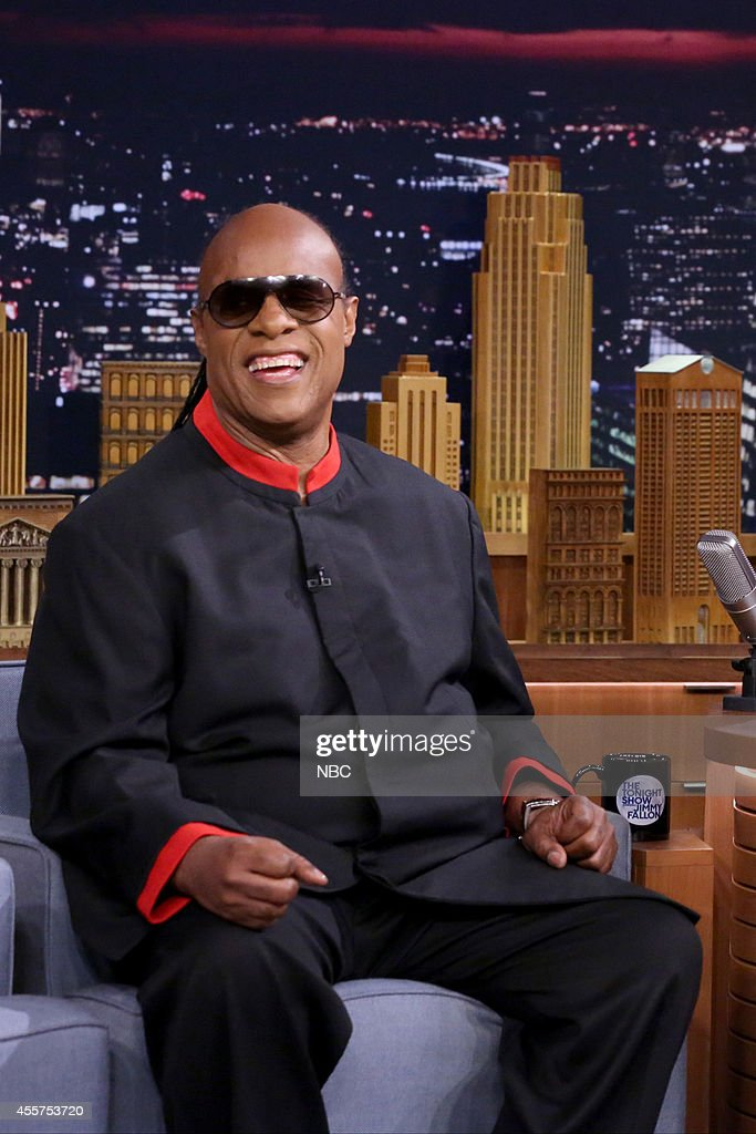 Musician <a gi-track='captionPersonalityLinkClicked' href=/galleries/search?phrase=Stevie+Wonder&family=editorial&specificpeople=171911 ng-click='$event.stopPropagation()'>Stevie Wonder</a> on September 19, 2014 --