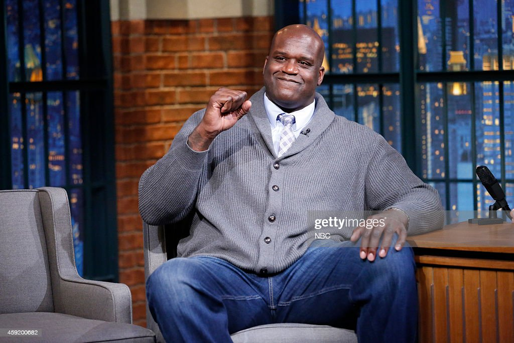 Former basketball player Shaquille O'Neal during an interview on November 18 2014