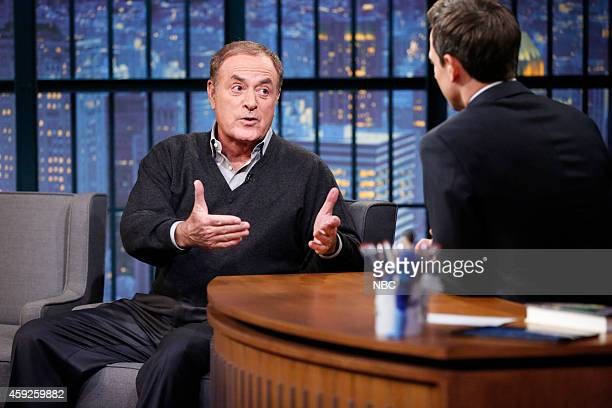 Al Michaels during an interview with host Seth Meyers on November 19 2014