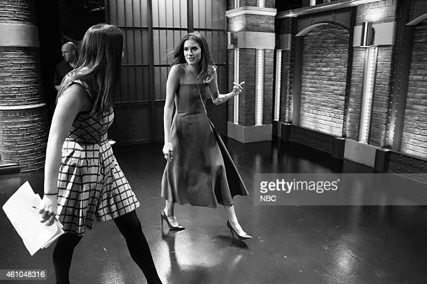 MEYERS Episode 0134 Pictured Actress Allison Williams departs after an interview on November 26 2014