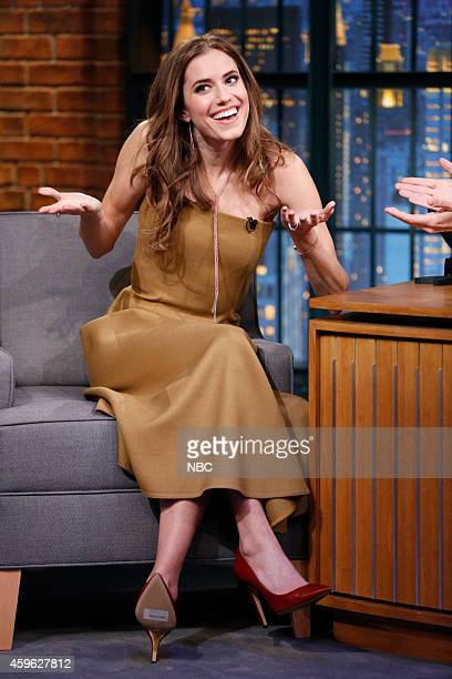 Actress Allison Williams during an interview on November 26 2014
