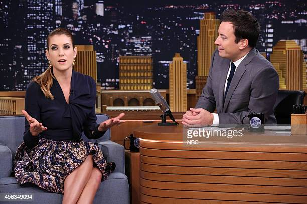 Actress Kate Walsh during an interview with host Jimmy Fallon on September 29 2014