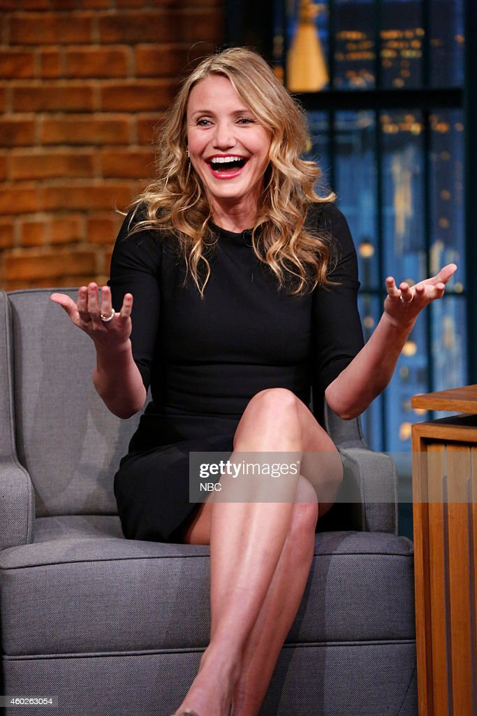 Actress Cameron Diaz during an interview on December 10, 2014 --