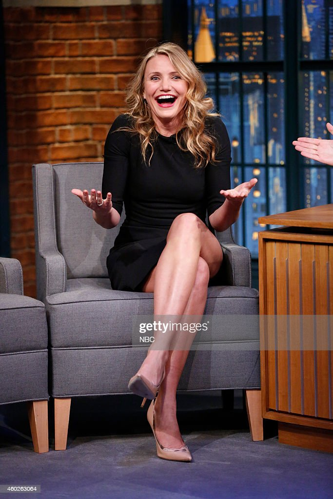 Actress <a gi-track='captionPersonalityLinkClicked' href=/galleries/search?phrase=Cameron+Diaz&family=editorial&specificpeople=201892 ng-click='$event.stopPropagation()'>Cameron Diaz</a> during an interview on December 10, 2014 --