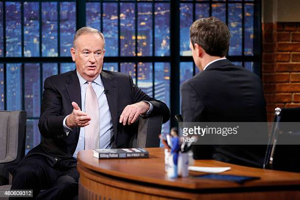 Bill O'Reilly during an interview with host Seth Meyers on December 17 2014