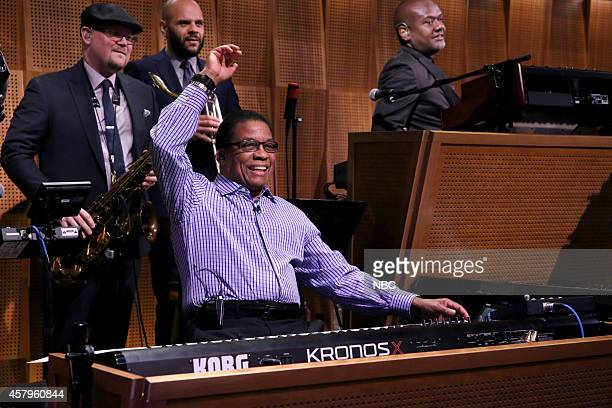 Jazz pianist Herbie Hancock plays with The Roots on October 27 2014