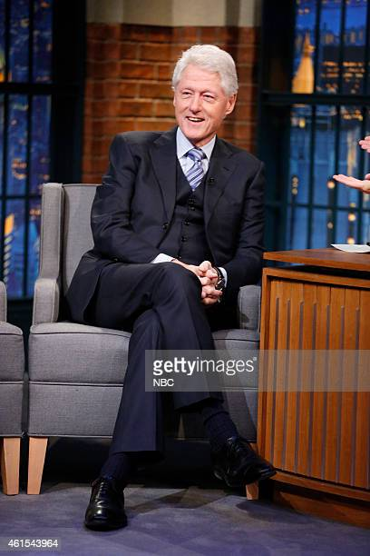 President Bill Clinton appears on Late Night with Seth Meyers to talk about being a grandparent the Clinton fund the attack on Paris media and 2016...