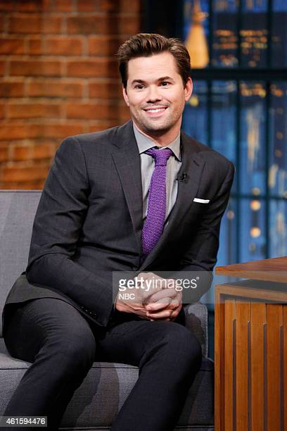 Actor Andrew Rannells during an interview on January 15 2015