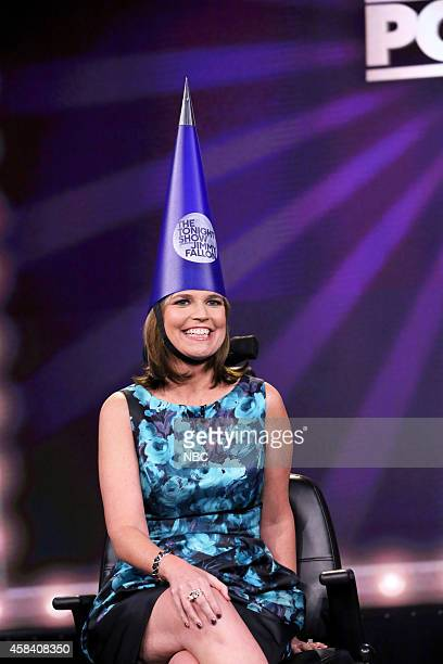 Today Show host Savannah Guthrie plays Pop Quiz on November 4 2014