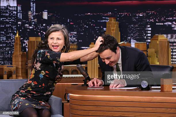 Actress Tracey Ullman during an interview with host Jimmy Fallon on November 13 2014