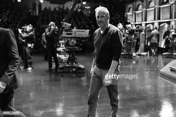 MEYERS Episode 0163 Pictured Actor Kevin Costner departs after an interview on February 12 2015
